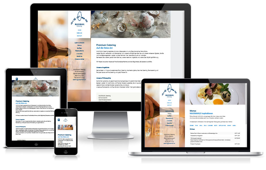 Webdesign Referenz - Catering