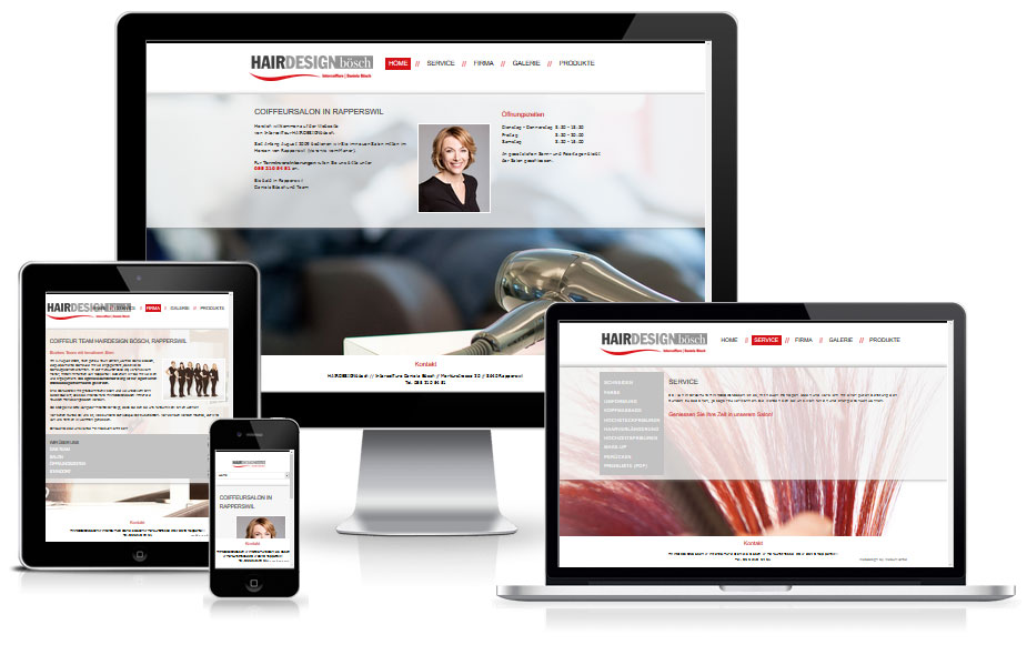Website Referenz - Coiffeur Rapperswil