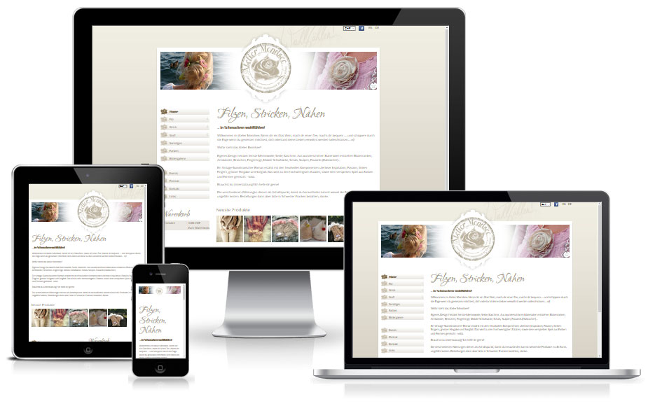 Shop Website Referenz - Atelier