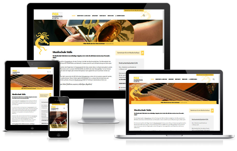 Website Referenz Musikschule