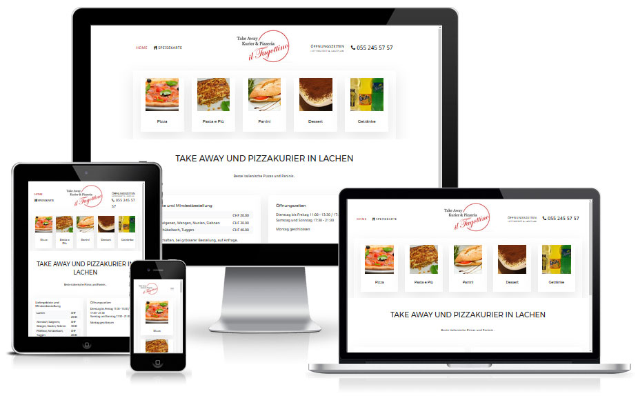 Shop Website Referenz - Pizzakurier